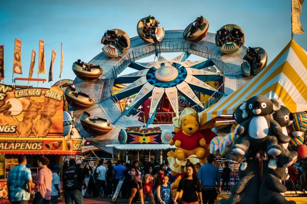 Busy midway at Ford Park for the South Texas State Fair
