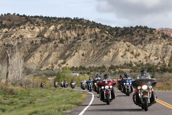 Motorcycles ride across America During Kyle Petty Chairty Ride