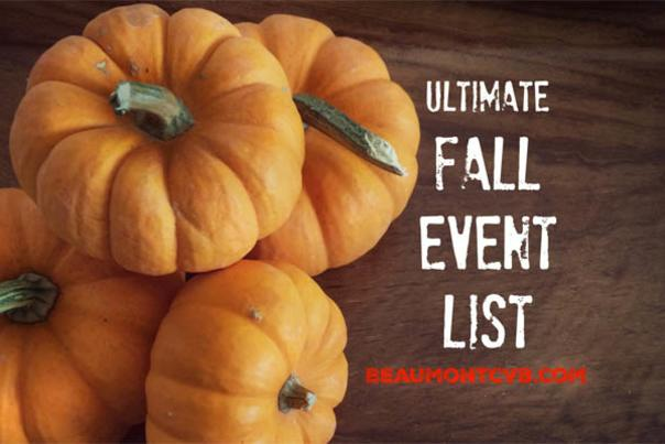Fall Pumpkin Event List