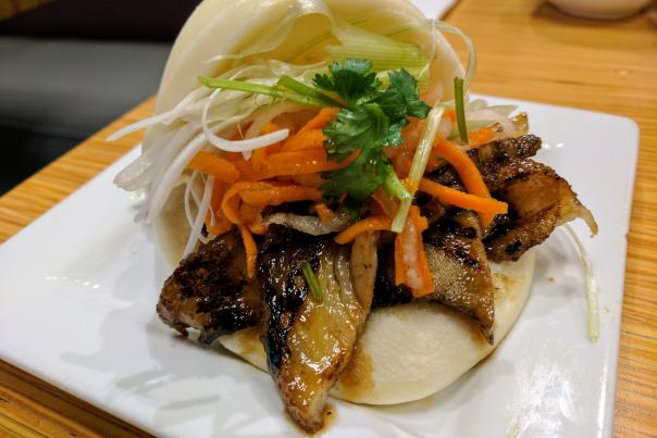 Sweet Basil Pork Belly Bun Bao