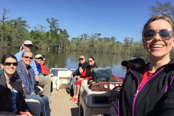 Neches River Boat Tour Group