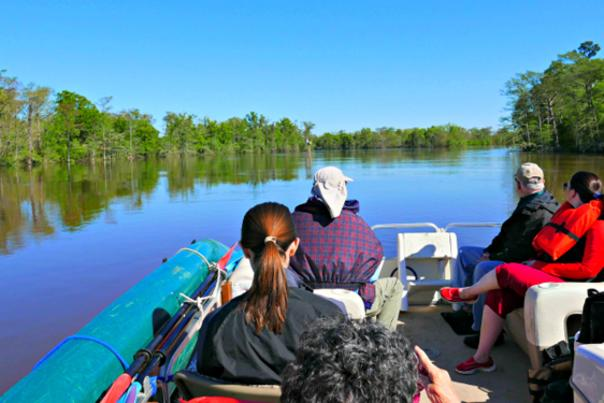 Neches River Boat Tour in Beaumont, Texas.