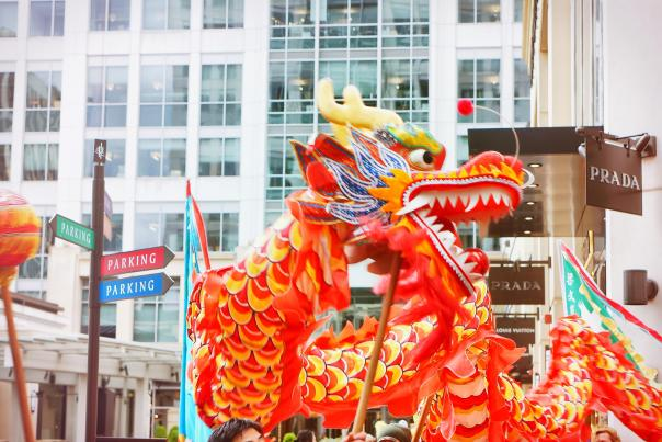 Lunar New Year Dragons at The Bravern