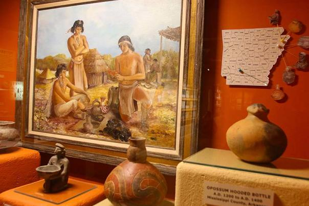 Artifacts from the Museum of Native American History in Bentonville Arkansas