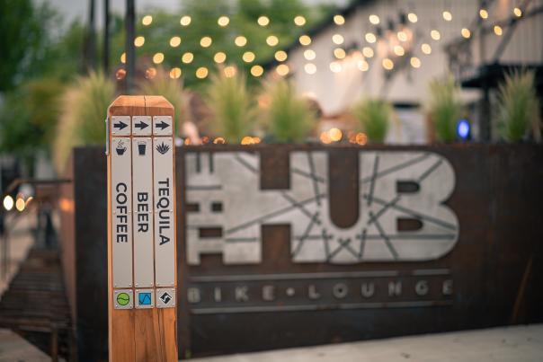 The HUB Bike Lounge front