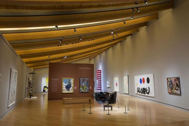 Exhibition room at Crystal Bridges Museum of American Art in Bentonville Arkansas