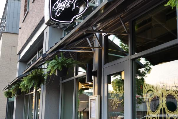 View from sidewalk of Onyx Coffee Lab's entrance