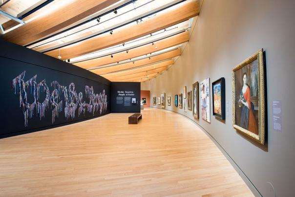 Exhibition room at Crystal Bridges Museum of American Art in Bentonville Arkansas