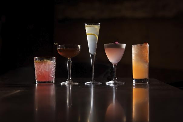 A variety of cocktails at the Undercroft in Bentonville Arkansas