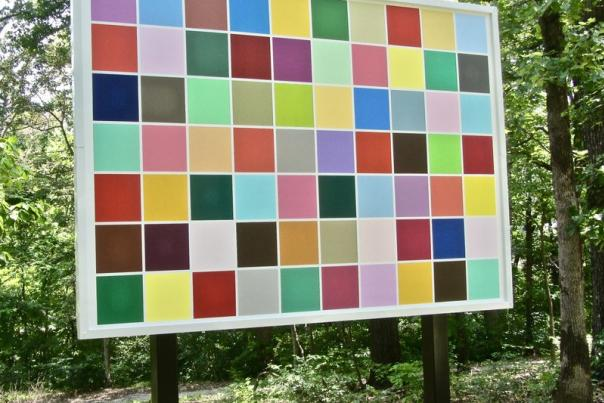 ARKANSAS SIGHTSEEING: Crystal Bridges has several pathways, trails to art