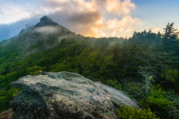 Cloudy Peaks of Grandfather Mountain (credit Skip Sickler | GMSF)