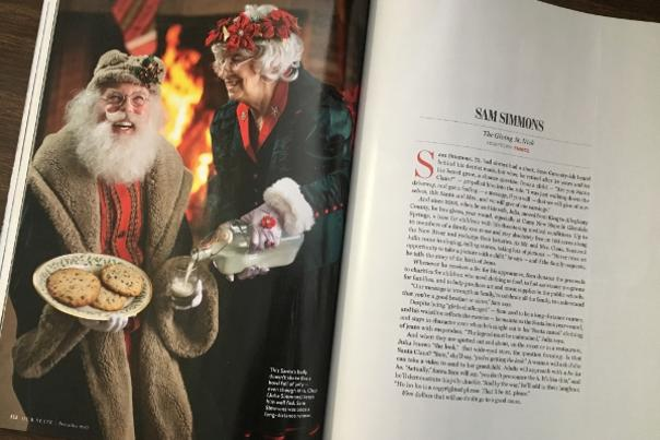 "Sam Simmons and his wife Julia, as featured in the Our State Magazine article, ""Santa's Helpers"""