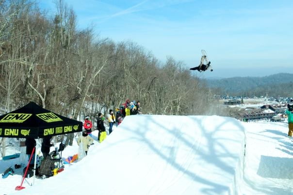 Shred for the Cup Rail jam