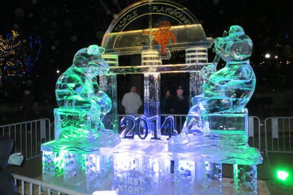 Fist Night Boston 2014 Ice Sculpture