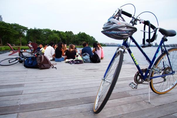 Students on Esplanade