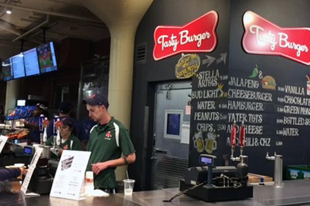 Tasty Burger at Fenway Park