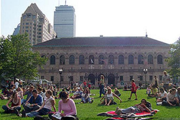 Summer in boston Copley Square