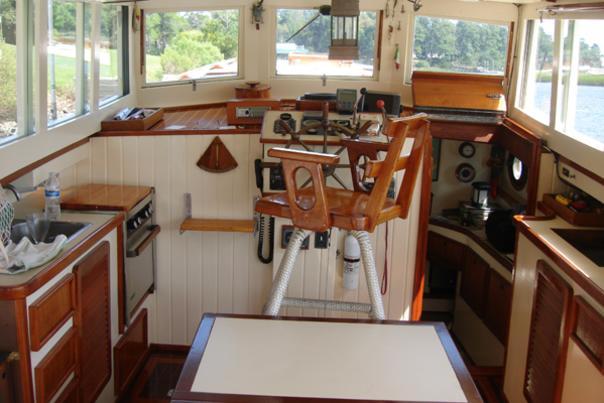 DSC02266 Karen Interior Southport Wooden Boat Show blog