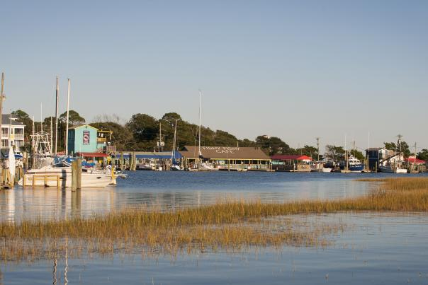 View of Southport Yacht Basin