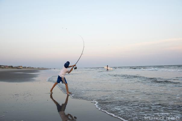 Boy Surf Fishing