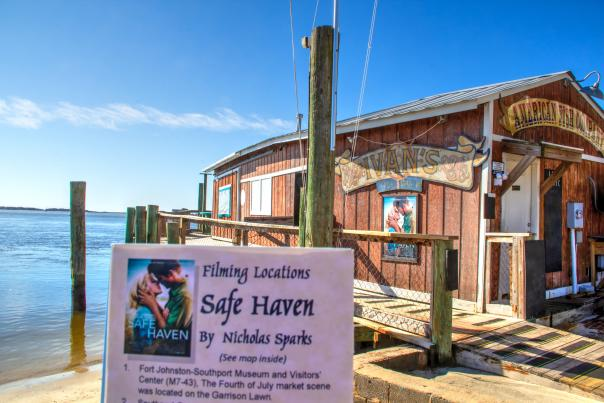 American Fish Company was the location for Ivan's in the motion picture Safe Haven filmed in Southport NC