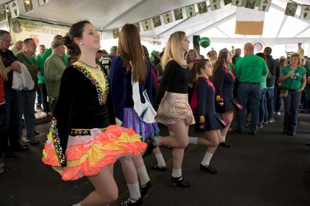 The party doesn't stop during the annual Newtown Irish Festival at the Green Parrot Restaurant!