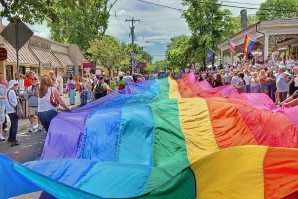 Flag at New Hope's Pride Parade
