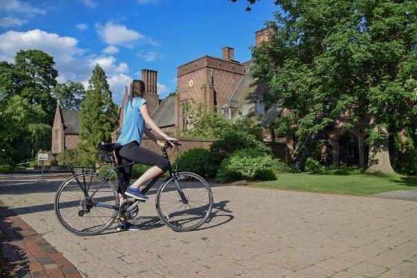 Brooke on Bike