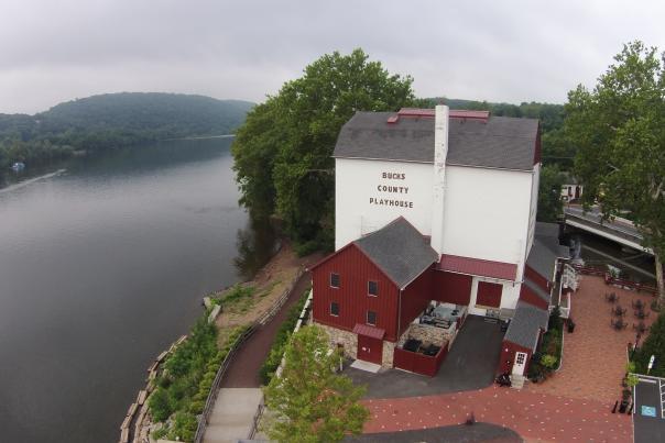 Aerial of Bucks County Playhouse