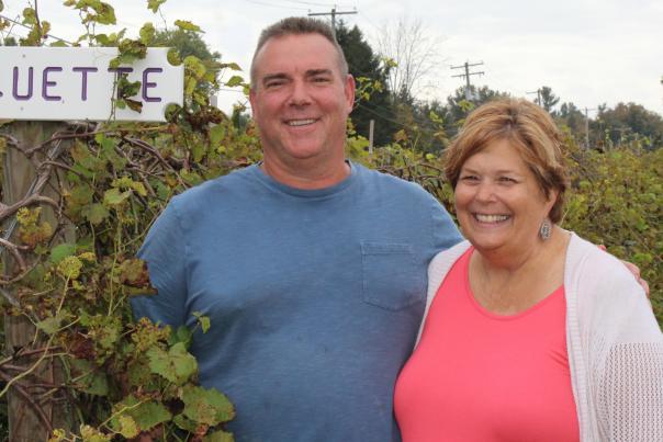 Kevin and Cindy Bishop, owners of Bishop Estate Vineyard and Winery