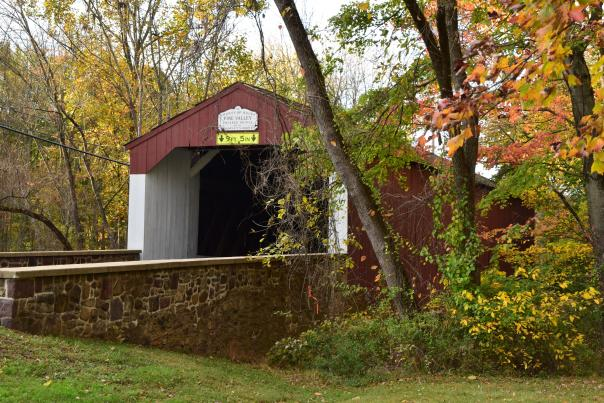 Pine Valley Covered Bridge in the fall