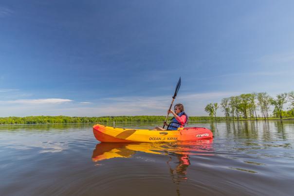 Kayaking in Lake Nockamixon