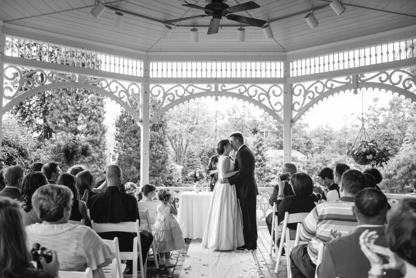 Gazebo wedding at Peddler's Village