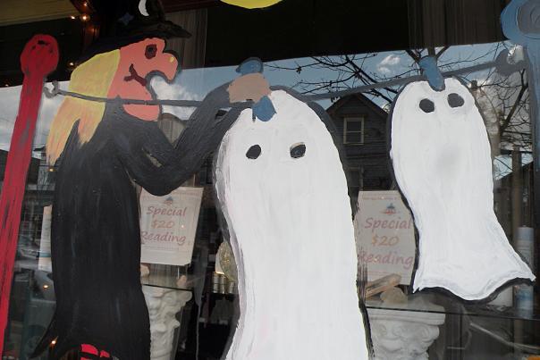 Newtown Halloween art window
