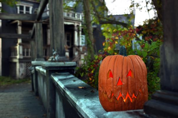 Pumpkin at Haunted House in the Hollow