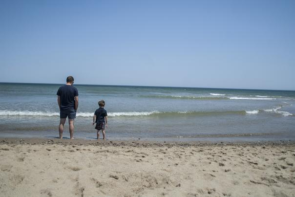Austen and Dad at National Seashore