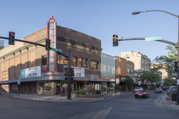 A picture of Rialto Movie Palace in downtown Casper, Wyoming.