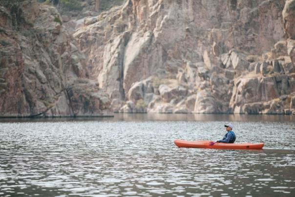 Kayak at Alcova Lake