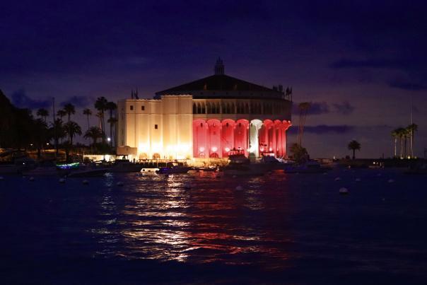 Catalina Casino Red & White Lights