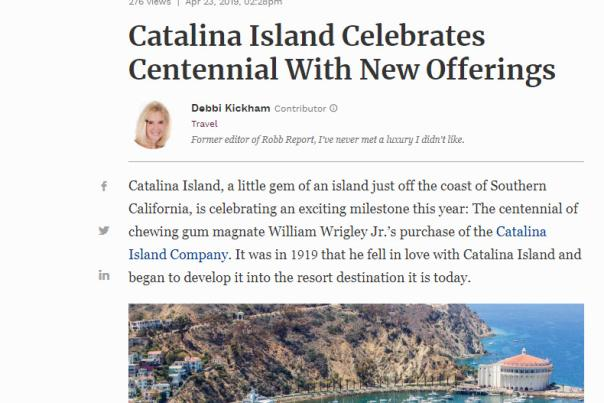 Catalina Island Celebrates Centennial With New Offerings