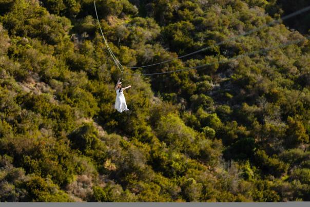 Zip Line Wedding