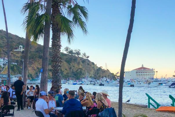 Catalina beach dining