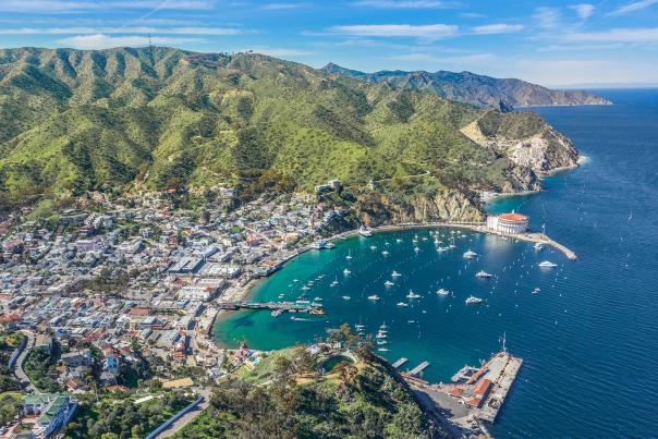 Aerial Catalina Island