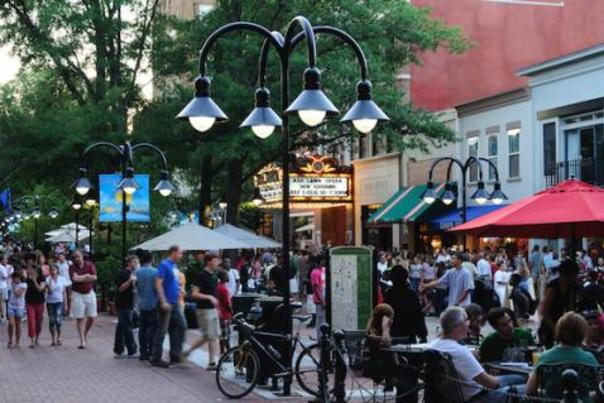 Downtown Mall in the evening