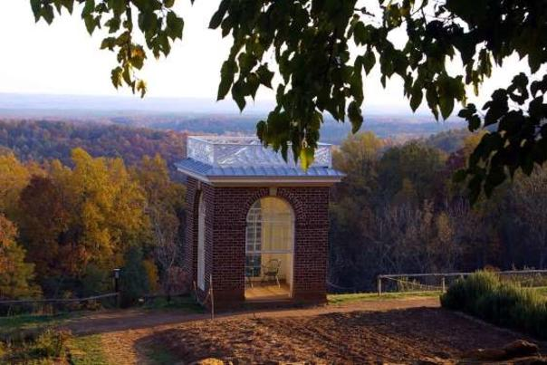 Monticello Garden in Fall