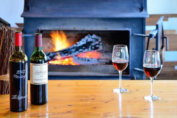 Jefferson Vineyards Fireplace 2