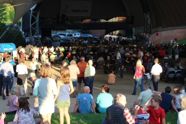 Crowd enjoying a concert at Sprint Pavilion