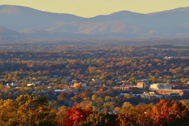 Charlottesville fall foliage