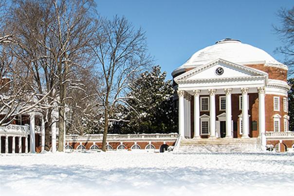UVA's Rotunda in the snow