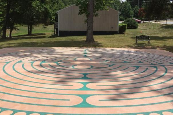 Tricia Wilson labyrinth from gazebo